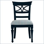 Stanley Furniture Coastal Living Cottage Sea Watch Side Chair in Navy