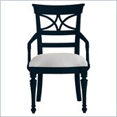 Stanley Furniture Coastal Living Cottage Sea Watch Arm Chair in Navy