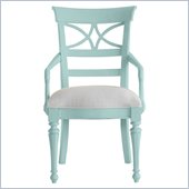 Stanley Furniture Coastal Living Cottage Sea Watch Arm Chair in Sea Mist