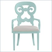Stanley Furniture Coastal Living Cottage Wayfarer Arm Chair in Sea Mist