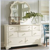 Stanley Furniture Coastal Living Cottage Getaway Triple Dresser and Mirror Set in Shell