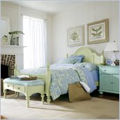 Stanley Furniture Coastal Living Cottage Summerhouse Bed 3 Piece Bedroom Set in Sea Grass and Morning Sky