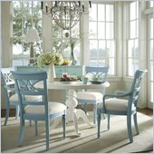 Stanley Furniture Coastal Living Cottage 48 Round Dining Set in Sand Dollar and High Tide