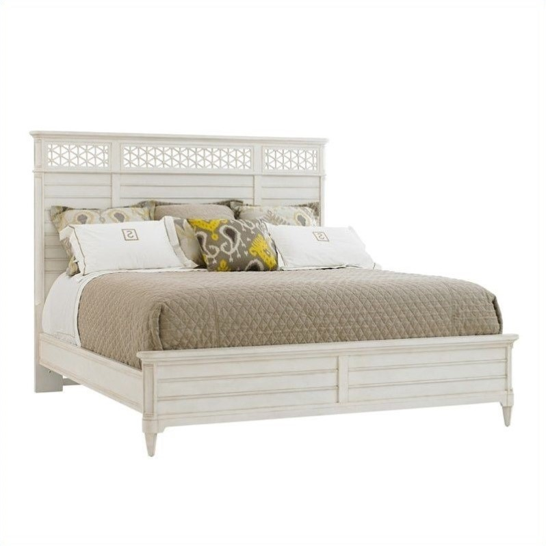 Stanley Furniture Cypress Grove Queen Panel Bed in Parchment
