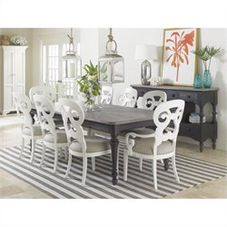 Stanley Furniture Coastal Living Retreat 9 Piece Dining Set in Gloucester Grey