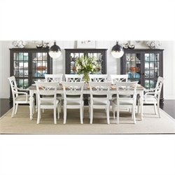 Stanley Furniture Coastal Living Retreat 11 Piece Dining Set in Saltbox White