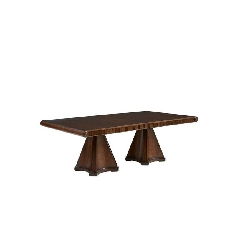 Stanley Furniture Villa Couture Dante Dining Table in Mottled Walnut