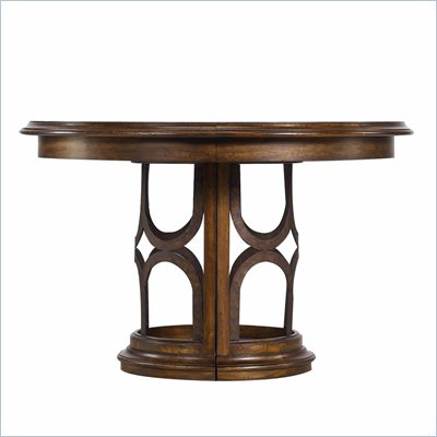 Stanley Furniture Archipelago Monserrat Round Pedestal Table in Fathom