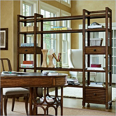 Stanley Furniture Archipelago Ripple Cay Media Bookcase in Shoal