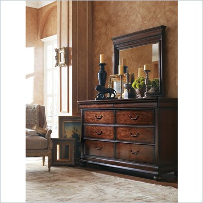 Stanley Furniture Louis Philippe Dresser &amp; Mirror in Orleans
