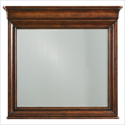 Stanley Furniture Louis Philippe Landscape Mirror in Burnished Honey