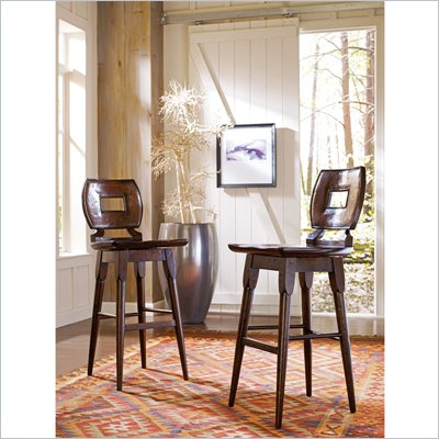 Stanley Furniture Artisan Wood Bar Stool in Barrel