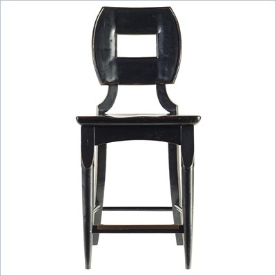 Stanley Furniture Artisan Wood Counter Stool in Ebony