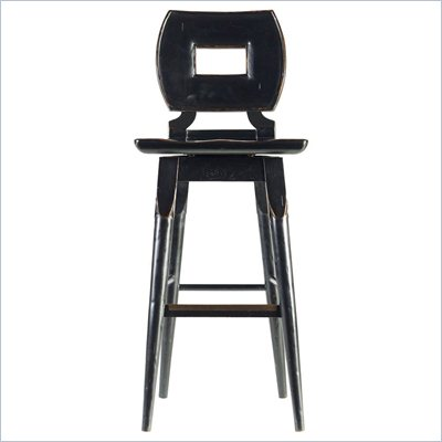 Stanley Furniture Artisan Wood Bar Stool in Ebony