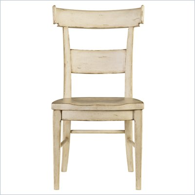 Stanley Furniture Old World Wood Side Chair in Belgian White
