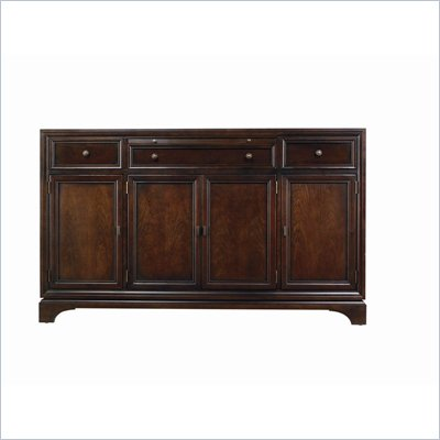Stanley Furniture Continuum Wood Buffet in Amaretto Cherry