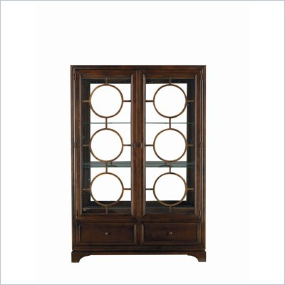Stanley Furniture Continuum Wood &amp; Glass Display China in Amaretto Cherry