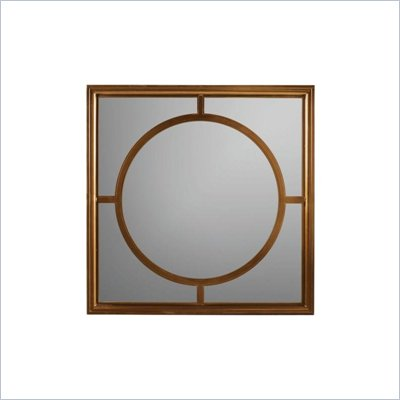 Stanley Furniture Continuum Metal Framed Square Mirror in Amaretto Cherry
