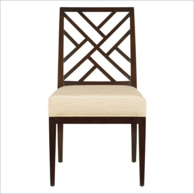 Stanley Furniture Continuum Fabric Side Chair in Amaretto Cherry Finish