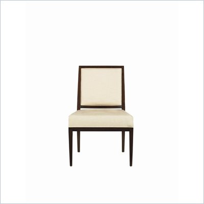 Stanley Furniture Continuum Ivory Fabric Side Chair in Amaretto Cherry Finish