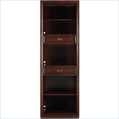 Stanley Furniture Continuum Wood Bookcase in Amaretto Cherry