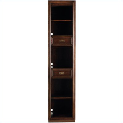 Stanley Furniture Continuum Wood Narrow Bookcase in Amaretto Cherry