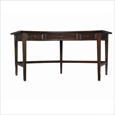 Wood  Leather Furniture on Stanley Furniture Continuum Leather   Wood Curved Writing Desk In