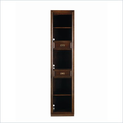 Stanley Furniture Continuum 2 Shelf Wood Narrow Bookcase in Amaretto Cherry