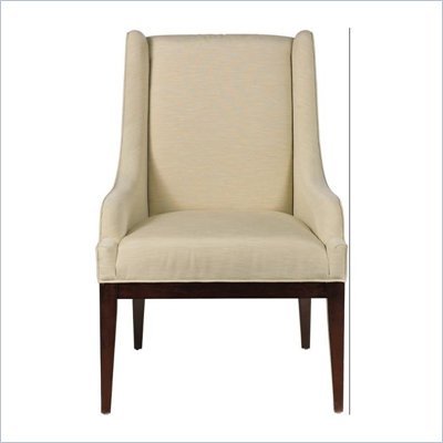 Stanley Furniture Continuum Upholstered Wood Frame Chair in Amaretto Cherry