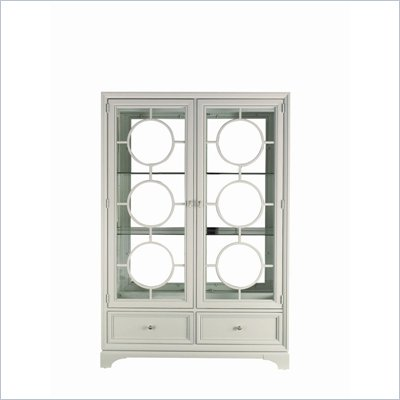 Stanley Furniture Continuum Wood &amp; Glass Display in Creme