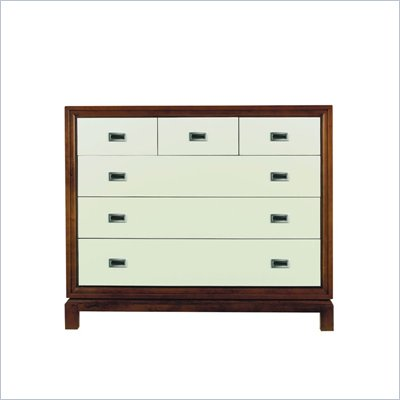 Stanley Furniture Continuum 6 Drawer Accent Chest in Creme Finish