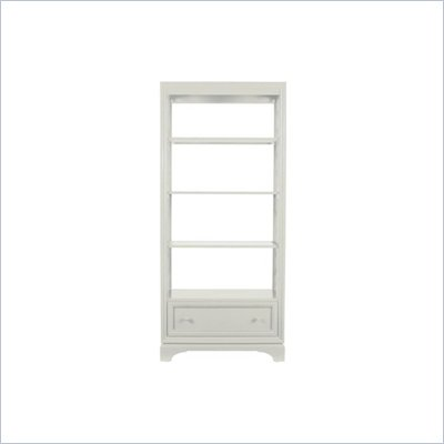 Stanley Furniture Continuum Etagere Bookcase with Glass Shelves in Crerme