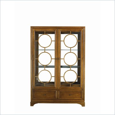 Stanley Furniture Continuum Wood & Glass Display China in Candlelight Cherry