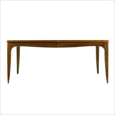 Stanley Furniture Continuum Wood Parson's Leg Casual Dining Table in Cherry Finish