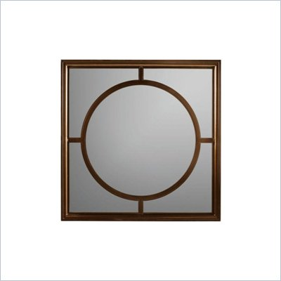 Stanley Furniture Continuum Metal Framed Square Mirror in Candlelight Cherry