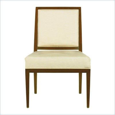 Stanley Furniture Continuum Ivory Fabric Side Chair in Candlelight Cherry Finish