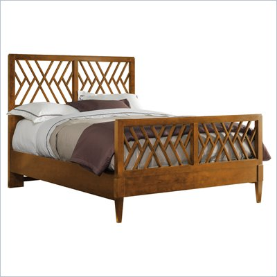 Stanley Furniture Continuum Chippendale Bed in Cherry