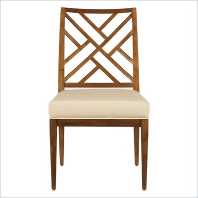 Stanley Furniture Continuum Fret Back Side Chair in Cherry