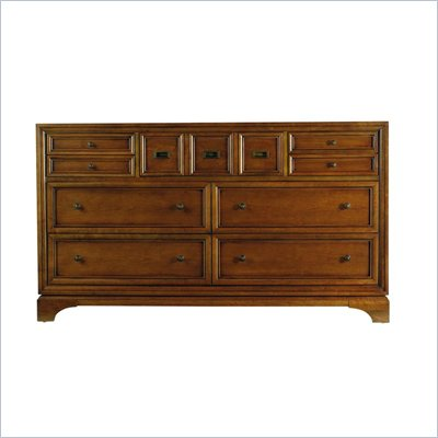 Stanley Furniture Continuum Wood Double Dresser in Candlelight Cherry