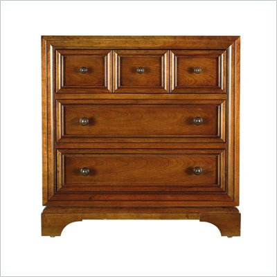 Stanley Furniture Continuum Wood Night Stand in Candlelight Cherry