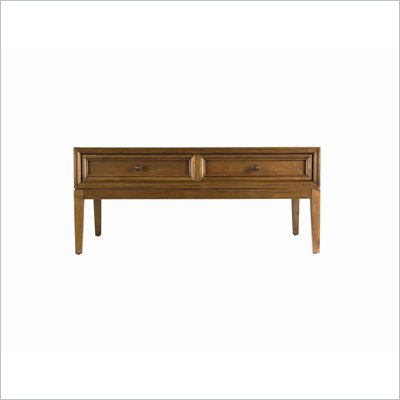 Stanley Furniture Continuum Rectangle Wood Top Cocktail Table in  Cherry