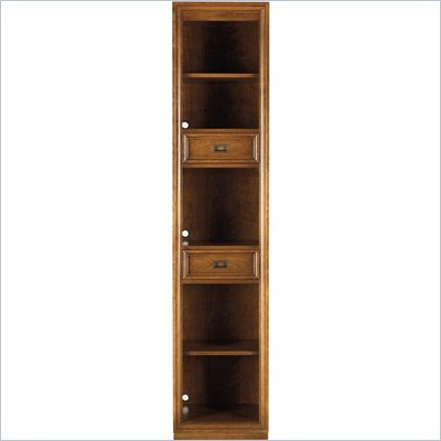 Stanley Furniture Continuum Wood Narrow Bookcase in Candlelight Cherry