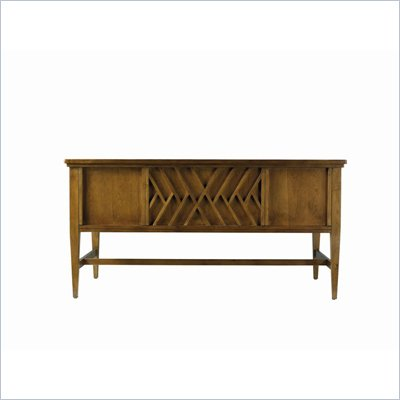 Stanley Furniture Continuum Wood Writing Desk in Candlelight Cherry
