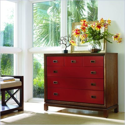 Stanley Furniture Continuum 6 Drawer Accent Chest in Cinnabar Finish