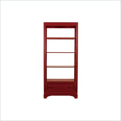 Stanley Furniture Continuum Cinnabar Etagere Bookcase with Glass Shelves