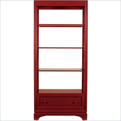 Stanley Furniture Continuum Etagere in Cinnabar
