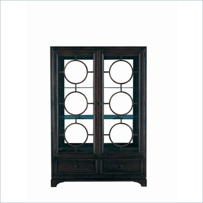 Stanley Furniture Continuum Wood &amp; Glass Display in Java Finish