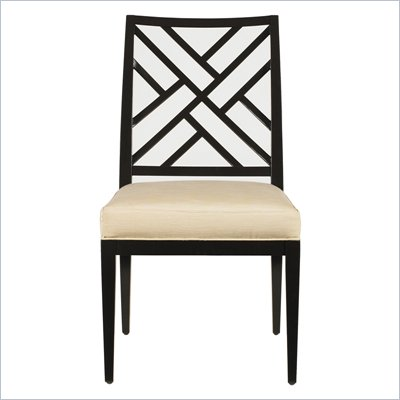 Stanley Furniture Continuum Fret Back Side Chair in Java