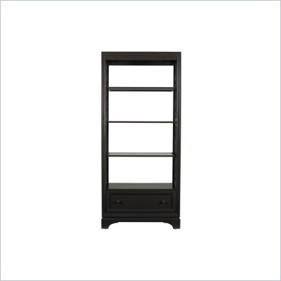 Stanley Furniture Continuum Etagere Bookcase with Glass Shelves in Java