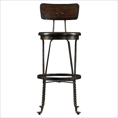 Stanley Furniture European Farmhouse Artisan's Barstool in Terrian